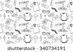 clothing seamless texture.... | Shutterstock .eps vector #340734191