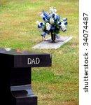 Cemetery Grave Tombstone...