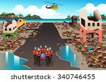 a vector illustration of rescue ... | Shutterstock .eps vector #340746455