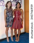 Small photo of LOS ANGELES, CA/USA - NOVEMBER 03 2015: Abigail Spencer and Christina Milian attend the People's Choice Awards 2016 nominations press conference at The Paley Center for Media .