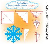 instructions how to make paper... | Shutterstock .eps vector #340747397