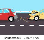 the driver did not have time to ...   Shutterstock .eps vector #340747721