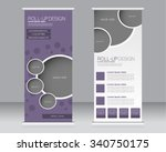 roll up banner stand template....   Shutterstock .eps vector #340750175