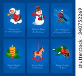 set of christmas and new year...   Shutterstock .eps vector #340752269