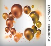 text box banner with gold... | Shutterstock .eps vector #340752395