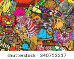 india collage   Shutterstock .eps vector #340753217