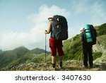 people overview mountains... | Shutterstock . vector #3407630