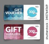 gift voucher discount template...   Shutterstock .eps vector #340764569