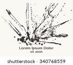 splatter black ink splash... | Shutterstock .eps vector #340768559