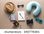 packed suitcase of vacation... | Shutterstock . vector #340778381