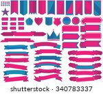set of ribbon banners and...   Shutterstock .eps vector #340783337