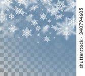 vector snowflakes. christmas... | Shutterstock .eps vector #340794605