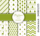 collection of seamless patterns.... | Shutterstock .eps vector #340801355