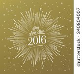 happy new year card with... | Shutterstock .eps vector #340804007