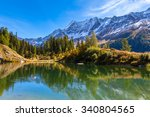 stunning view of the alps with... | Shutterstock . vector #340804565