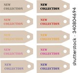 labels collection. label for...   Shutterstock .eps vector #340804694