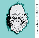 Stock vector yeti bigfoot head vector vector sasquatch abominable snowman yeti monster bigfoot portrait 340807841
