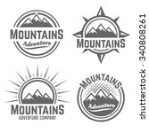 mountains set of vector four... | Shutterstock .eps vector #340808261
