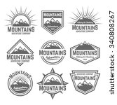 mountains set of vector... | Shutterstock .eps vector #340808267