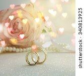 wedding ring  | Shutterstock . vector #340813925