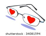 Love is blind - stock photo