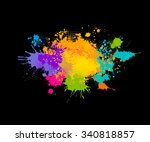 colored spray paint with a... | Shutterstock .eps vector #340818857