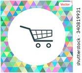 shopping cart vector icon.