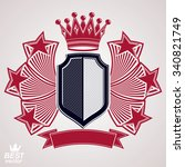 royal stylized vector graphic... | Shutterstock .eps vector #340821749