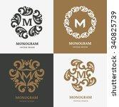 set of vector vintage logos... | Shutterstock .eps vector #340825739
