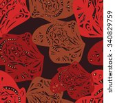 seamless vector background.... | Shutterstock .eps vector #340829759
