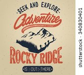 vector vintage hand draw... | Shutterstock .eps vector #340830401