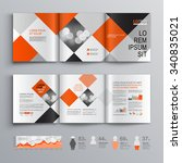 geometric business brochure... | Shutterstock .eps vector #340835021