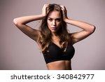 portrait of beautiful female... | Shutterstock . vector #340842977
