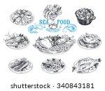 vector hand drawn illustration...   Shutterstock .eps vector #340843181