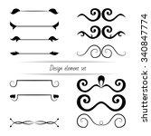 set of vector design elements ... | Shutterstock .eps vector #340847774