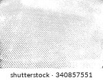 halftone distressed overlay... | Shutterstock .eps vector #340857551