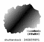 concept map of macedonia ... | Shutterstock .eps vector #340859891