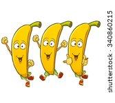very adorable banana cartoon... | Shutterstock .eps vector #340860215