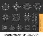 set of geometric shapes. trendy ...   Shutterstock .eps vector #340860914