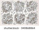 2016 new year doodles hand...   Shutterstock .eps vector #340868864