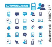 communication  connection ... | Shutterstock .eps vector #340874147