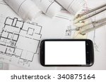 workplace of architect  ... | Shutterstock . vector #340875164