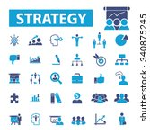 business strategy  icons  signs ... | Shutterstock .eps vector #340875245