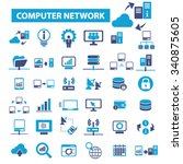 computer network  connection ... | Shutterstock .eps vector #340875605