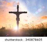 christian background concept ... | Shutterstock . vector #340878605