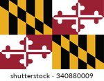 flag of maryland state of the... | Shutterstock .eps vector #340880009