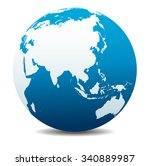 china and asia  global world | Shutterstock .eps vector #340889987