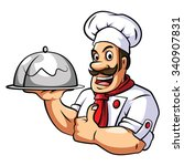 chef on white | Shutterstock . vector #340907831