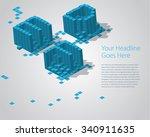 3d digital pixel font   def.... | Shutterstock .eps vector #340911635