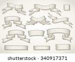 vector set of hand drawn... | Shutterstock .eps vector #340917371